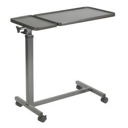 Drive Medical - 13068BV - Multi-Purpose Tilt-Top Split Overbed Table - (Walnut)