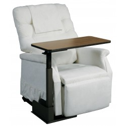 Drive Medical - 13085LN - Seat Lift Chair Overbed Table, Left Side Table - (Walnut)
