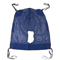 Drive Medical - 13221XL - Full Body Patient Lift Sling, Mesh with Commode Cutout, Extra Large - (Blue)