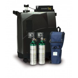 Drive Medical - 535D-2DP - iFill Personal Oxygen Station, Carrying Case, 2 D PD1000 Cylinders - (Black)