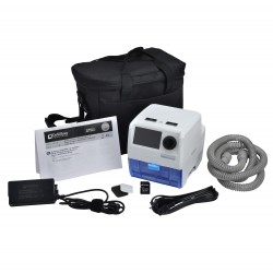 Drive Medical - DV64D-HHPD - IntelliPAP 2 AutoAdjust CPAP System with Heated Humidifier and PulseDose - (White and Blue)