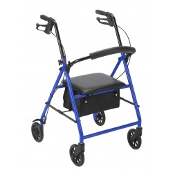 Drive Medical - R800BL - Rollator with 6 Wheels, Blue - (Blue)