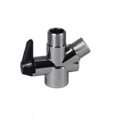 Drive Medical - RTL12046 - Handheld Shower Spray Diverter Valve - (Chrome)
