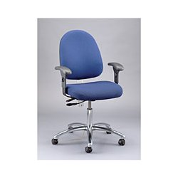 "Bevco Precision - 9551L ROYAL VINYL - Vinyl ESD Task Chair with 23"" to 33"" Seat Height Range and 300 lb. Weight Capacity, Royal Blue"