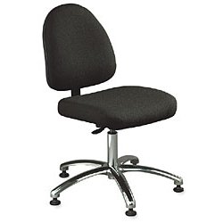 Bevco Precision - 6050 GRAY FABRIC - Ergonomic Chair Standard Gray Fabric 17-22 In Plastic Bevco Ansi/bifma, Ea