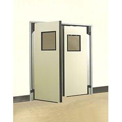 Aleco - 434014 - Aleco Industrial Impacdor Single Door 4x7 Charcoal Gray, Ea