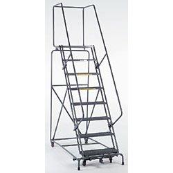 Ballymore / Garlin - 083221R - Garlin Locking Step Rolling Ladder 8 Step 21 In Deep Top Step Knock Down Abrasive Steel Gray, Ea