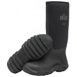American Dist & Mfg - HSH-000A SIZE 6 - Muck Boots Hoser Classic Plain Toe 16 Inches Height Black Color Size 6, Pr