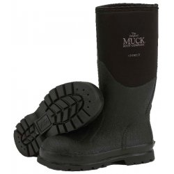 American Dist & Mfg - CHM-000A SIZE 5 - Muck Chore Boots Plain Toe 12 Inches Height Black Color Size 5, Pr