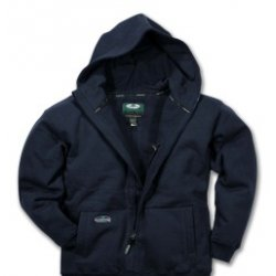 Arborwear - 400241 103 M - Sweatshirt Hooded Zip Front Medium Forest Green 12 Oz Cotton Fleece Arborwear, Ea