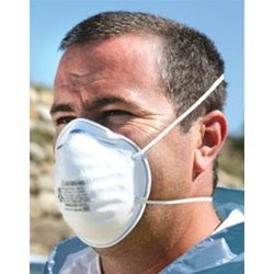 3M - 70071534492 - 3M Standard N95 8200 Disposable Particulate Respirator With Adjustable Nose Clip - Meets NIOSH And OSHA Standards (20 Each Per Box)