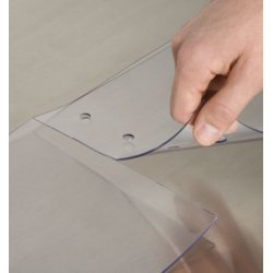 Aleco - 177042 - Aleco Plastic Strip Doors- Tear Way Quick Strips 12 Inches Wide By 12 Foot Height Scratch Gaurd Strips, Ea