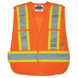 Alliance Mercantile - U6125O - Viking Safety Mesh Vst Or, Ea