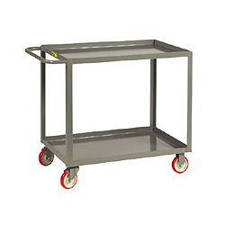 Brennan - LGL-1832-BRK - Brennan LGL-1832-BRK Welded service cart -2 shelf, lip, 18 x 32