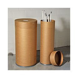 Basco - FFL10 - Recycling Drum 48 1/8x15 1/2 Fiberboard, Ea