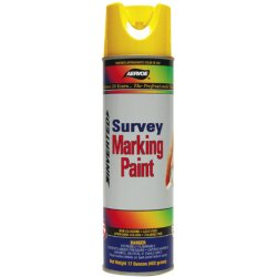 Aervoe - 202 - Log Marking Paint With Inverted Tip Aervoe Pacific Yellow Solvent Aervoe 17 Oz 580 Feet Coverage, Ea