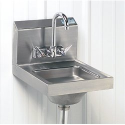 Advance Tabco - 7-PS-23 - Hand Sink Space Saver Advance Tabco Stainless Steel 12 In Wx16 In Lx5 In D 1/2 Iron Pipe Standard Inlet, Ea