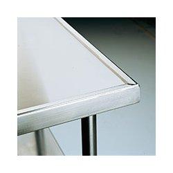 Advance Tabco - KSS-306 - Work Table Back Splash Stainless Steel Legs 35.5hx30wx72l Advance Tabco Stainless Steel 14 Gauge, Ea