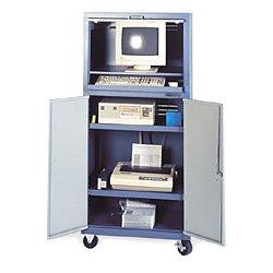 Edsal - CSC6790 - Computer Enclosure Mobile Unassembled Black 64 Hx26 Wx24 D, Ea