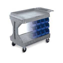 Akro-Mils / Myers Industries - 30930 GRAY - Utility Cart 2 Shelf Gr 32 Hx19 1/2 Wx40 L 400 Akro Mills, Ea