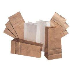Paper Bags And Sacks - BAG GW20S-500 - Standard-Duty Paper Bags - # 20 Squat 8 1?4W X 5 15?16D X 14 3?8H 40-Lbs. Basis Wt., ?2 Inner Bundle Qty. (500 Per Bundle), EA