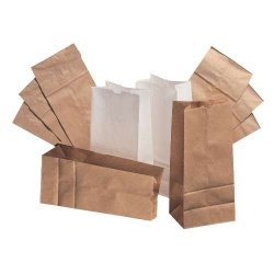 Paper Bags And Sacks - BAG GW6-500 - Standard-Duty Paper Bags - # 6 6W X 3 5?8D X 11 1?16H 35-Lbs. Basis Wt., ?4 Inner Bundle Qty. (500 Per Case)
