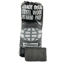 Global Material Technology - GMT 117000 - Industrial-Quality Steel Wool Hand Pads - #0000 Finest, CS