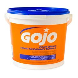 Gojo - GOJ 6299 - Gojo Fast Wipes Hand Cleaning Towels - 225-Count Bucket 8-Liter Bag-In-Box (2 Case Qty.)