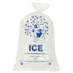 Inteplast - IBS IC1120 - Ice Bags With Twist Ties - 8-Lbs. Capacity 11W X 20L (1, 000 Case Qty.)