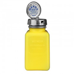Menda / Desco - 35268 - DurAstatic Dissipative Yellow HDPE Bottle with Pure-Take Locking Pump, 6 oz