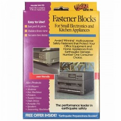 Ready America - EP-106 - QuakeHold. Fastener Blocks 2-Pack