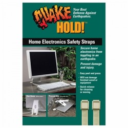 Ready America - EP-111 - QuakeHold. Home Electronics Safety Straps - Grey