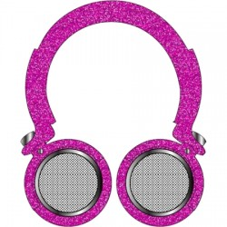 GabbaGoods - GG-KOL-GP1 - Light Up Bluetooth Headphones - Girl Print 1