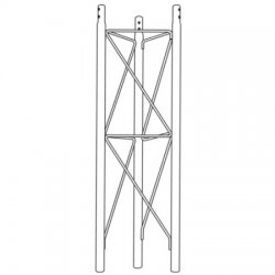 Rohn Products - SB25G - Short Base Section for Model 25G Tower