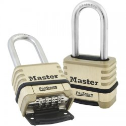 Master Lock - 1175LHSS - Lock, 4-Digit Combo 2-1/16 Stainless Shackle