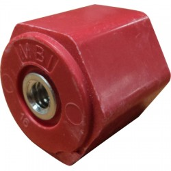 Harger - 1100A1 - Harger Lightning & Grounding 1100A1 Insulator, Type: Stand-Off, Size: 1, Thread: 1/4-20, Red, Polyester