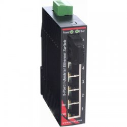 Red Lion Controls - SLX-5ES-2ST - SLX-5ES-2ST Sixnet SlimLine Plus unmanaged industrial Ethernet Switch with 4 RJ45 ports and 1 multimode fiber ST, 4 km