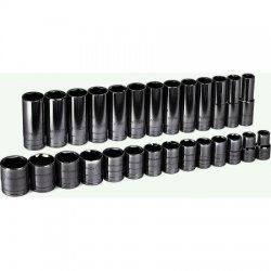GearWrench - 80729 - Standard Socket Set, 1/2' Drive, , 27 piece/ 1 set
