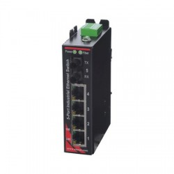 Red Lion Controls - SLX-8ES-6ST - SLX-8ES-6ST Sixnet SlimLine Plus unmanaged industrial Ethernet Switch with 5 RJ45 ports and 3 multimode fiber ST, 4 km