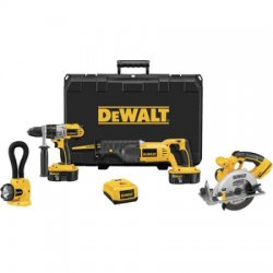 Dewalt - DCK450X - DeWALT DCK450X 18V XRP 4 Tool Combo w/ Hammerdrill, Recip Saw, Circular Saw and Floodlight