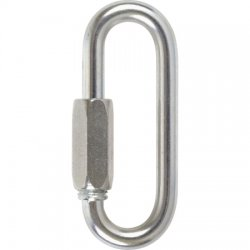 Petzl - P15 - Carabiner, Steel, 3 In. L, Screw Lock
