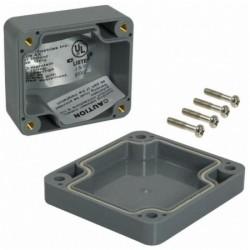 Bud Industries - PN-1320-DG - 2.56x2.28x1.38 NEMA Box, Dark Gray
