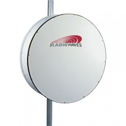 Radio Waves - HP3-11EX - 3' (0.9m) High Performance Dish Antenna, 10.7-11.7GHz, Direct-Fit to Exalt ExtendAir/ ExploreAir ODU, SOI