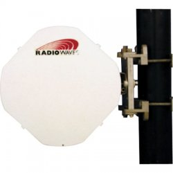 Radio Waves - HPCPE-23EX - 1' (0.3m) High Performance Discriminator Dish Antenna, Plane Polarized, 21.2-23.6GHz, 34.4dBi, Direct-Fit to Exalt ExtendAir/ ExploreAir ODU, SOI