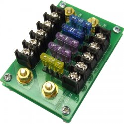 DuraComm - DB-5 - Distribution Block, 5 Fuse, 75 Amp bus