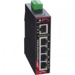 Red Lion Controls - EB-5ES-PSE-1 - EB-5ES-PSE-1 Sixnet Slimline unmanaged industrial 5-port Ethernet Switch with 4 PoE and 1 RJ45 uplink