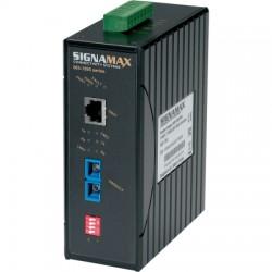 Signamax / AESP - 065-1897TB - DIN Eth/Fiber Industrial Hardened Media Converter