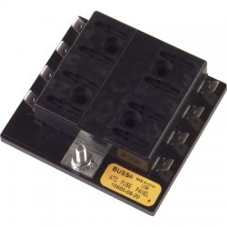 Cooper Bussmann - 15600-08-20 - 8-Pole Automotive Fuse Block, AC: Not Rated, DC: 32VDC, 0 to 30A, Series ATC