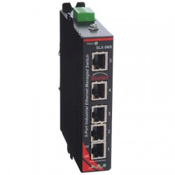 Red Lion Controls - SLX-5MS-4ST - SLX-5MS-4ST Sixnet SlimLine Plus 5 port managed industrial Ethernet switch with 3 RJ45 and 2 multimode ST fiber, 4 km