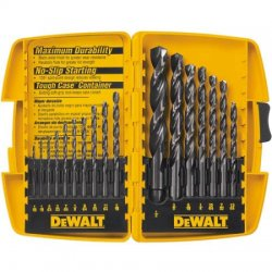 Dewalt - DW1167 - 17 Pc. Black Oxide Drillbit Split Point Set
